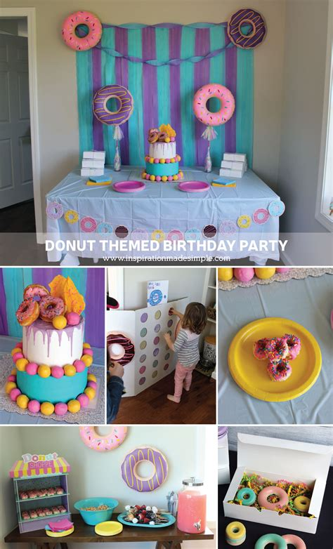 themed birthday parties donut birthday party inspiration made simple