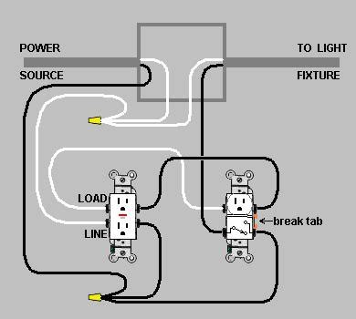 light switch outlet combo wiring wiring diagrams