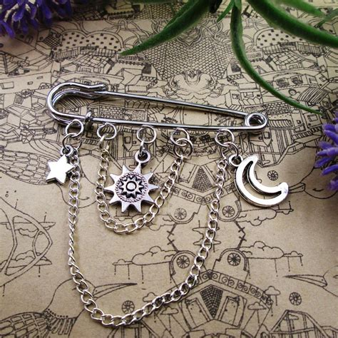 Owls And Moon Kilt Pin Brooch Shawl Pin Etsy by Brooch Pin Sun Moon And Cloak Pin Lapel Pin Kilt Pin Shawl Pin Decorative Charms Gift Coat