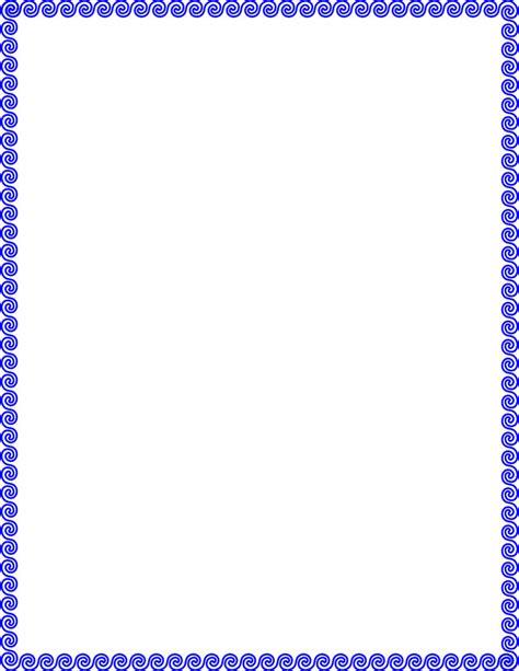 wave scroll border page frames simple ornamental wave