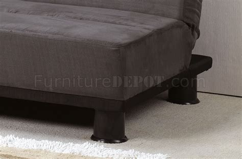 Gray Suede Sofa Grey Micro Suede Contemporary Sofa Sleeper W Black