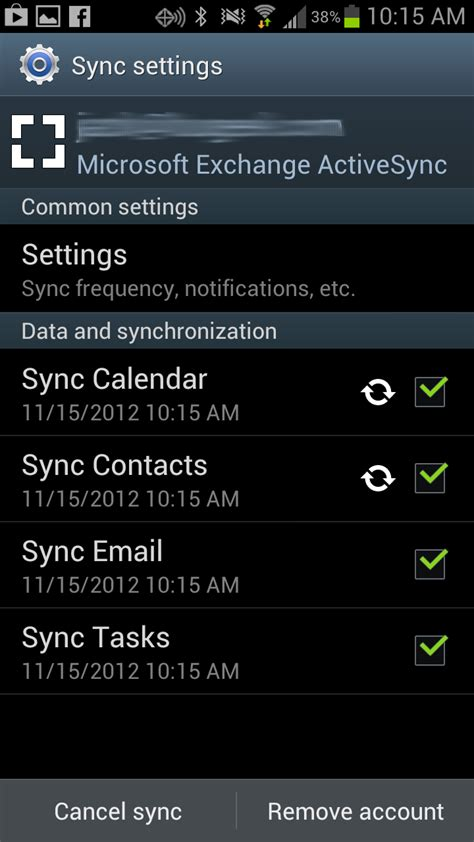 help how do i synchronize android calendar and contacts with exchange