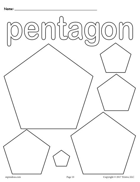 Pentagon Page Coloring Pages Pentagon Coloring Page