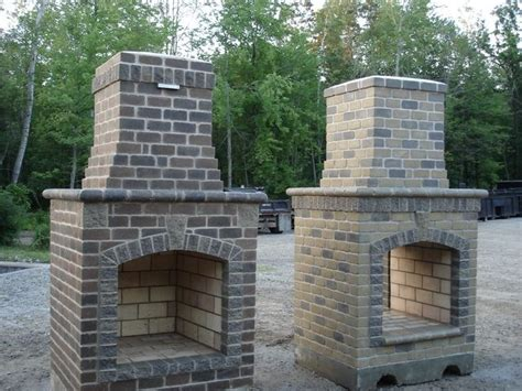 building outdoor fireplace brick fireplace