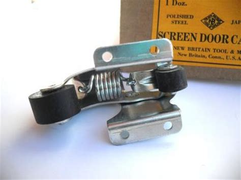 spring loaded boat trailer rollers vtg nos storm screen door holder catch latch zinc plated