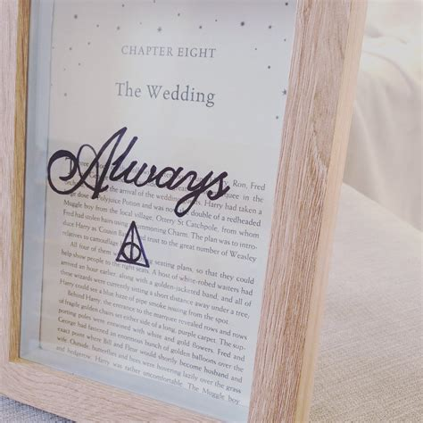 Wedding Quotes Etsy by New To My Etsy Harry Potter Framed The Wedding Chapter