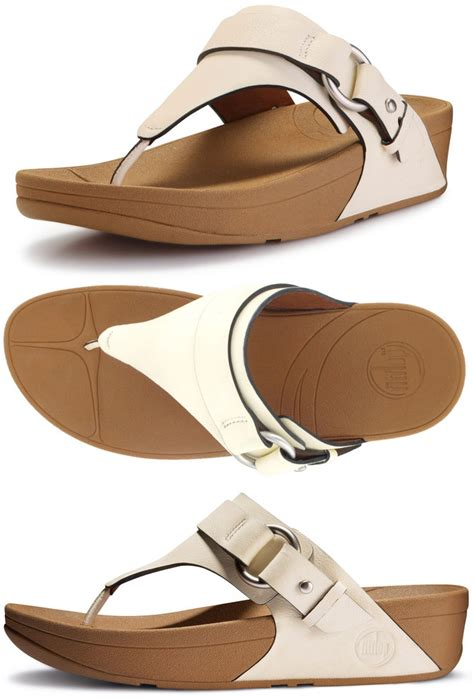 Sandal Wanita Fitflop Via Nubuck fitflop via sandals in white in size 10 only