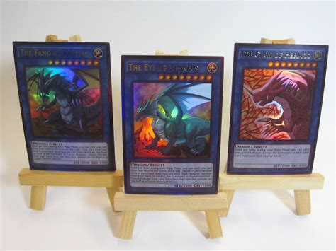 Yugioh Legendary Decks Atlantis Deck proxy orica custom legendary dragons 3 cards ultra timaeus critias hermos ebay