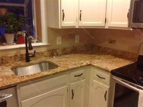 Granite Kitchen Backsplash Mac S Before Amp After Solarius Granite Countertop