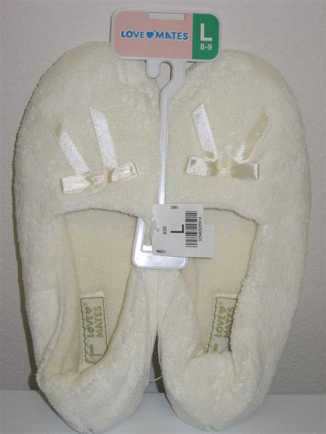 mates slippers new mates womens soft slippers ivory l 8 9 s