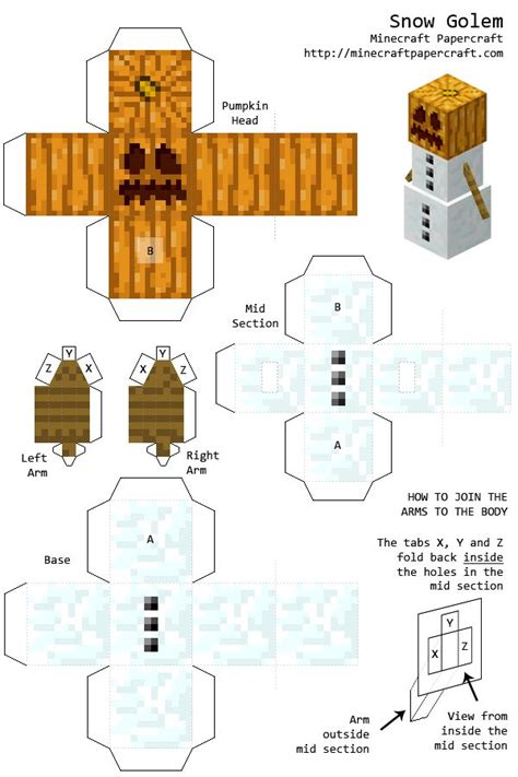 Minecraft Papercraft Snow Set - 36 best images about minecraft paper crafts on