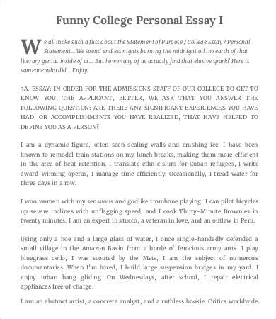 Exles Of Humorous Essays by College Essay Template 7 Free Word Pdf Documents Free Premium Templates