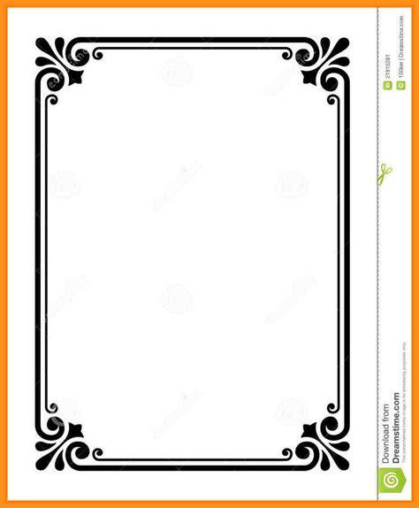 design frame outline 11 sle certificate border designs agenda exle