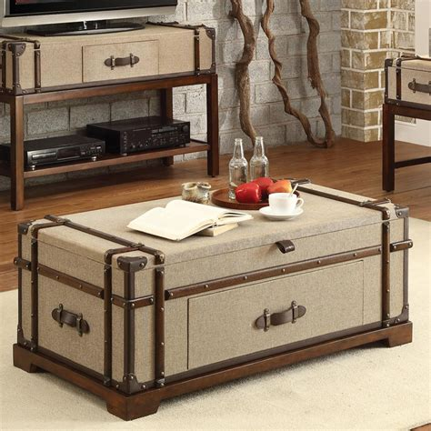 Riverside Trunk Lift Top Coffee Table Bon Voyage Steamer Lift Top Trunk Coffee Table