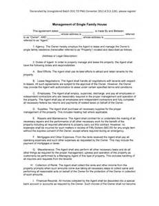 family contract template sle management of single family house form blank