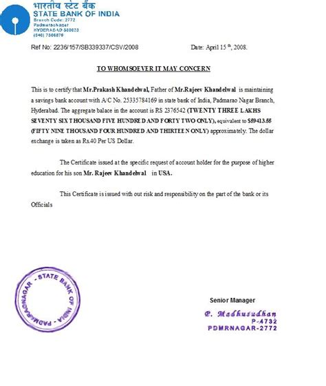 Sbi Bank Letterhead Format Bank Statement For Univ For I20 Page 2 Discussions Andhrafriends