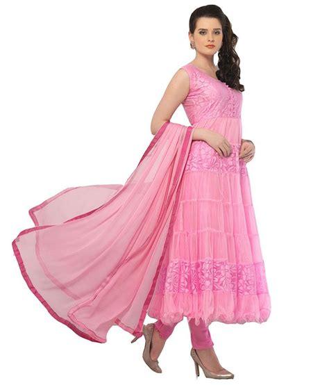 design dress material manufacturers pakiza design pink net unstitched dress material buy