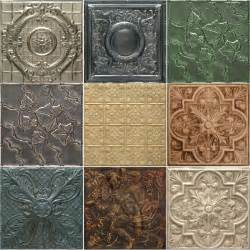 tin tiles custom 5 pack of artisan finishes wallpaper by decorative ceiling tiles inc
