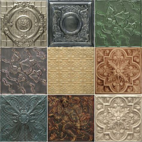 tin tiles custom 5 pack of artisan finishes wallpaper