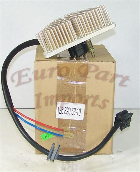blower motor resistor for mercedes mercedes blower motor resistor regulator behr oem quality 1268205310 part imports