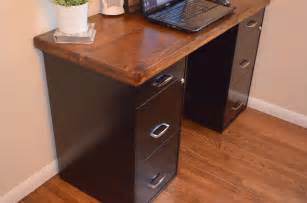 desk with file cabinets built in an inviting home a diy desk