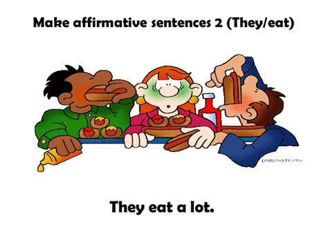 Ss Eat A Lot present simple usages and exles grammar