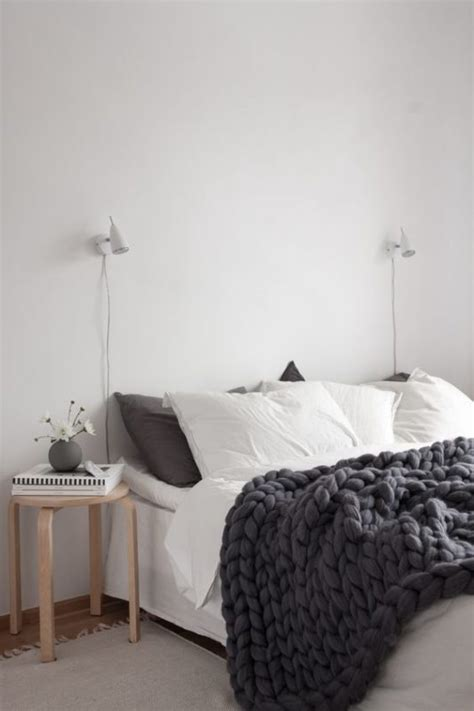 modern bedroom design with knit element fnw top 10 things you need for a scandinavian bedroom daily