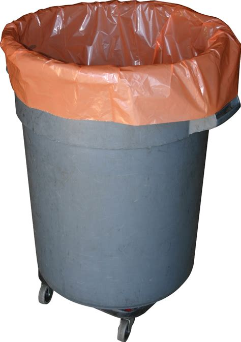 56 gallon orange heavy duty trash bags 2 mil 100 cs