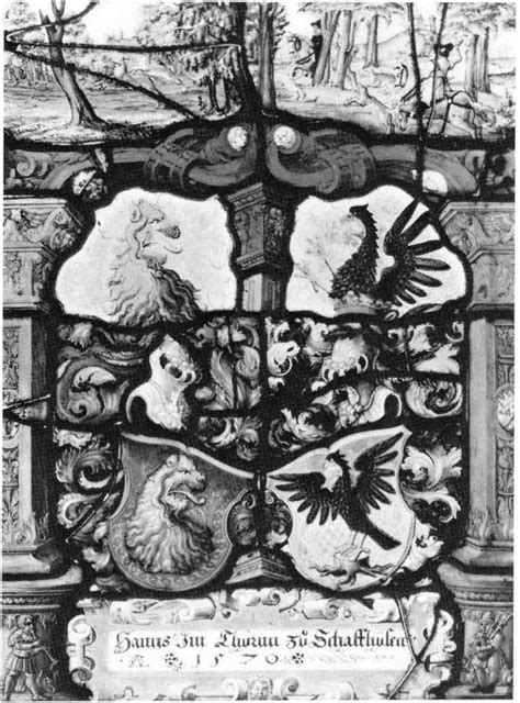 heraldic panel with the arms of hans in thurm and his