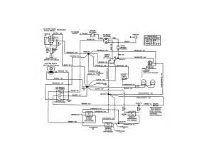 wiring schematic diagram parts list for model 107280060 craftsman parts mower tractor