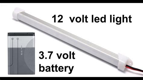 12 volt led light run by mobile battery