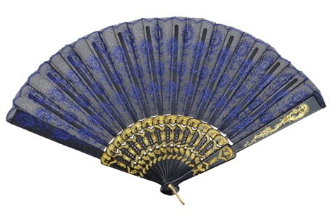 hand fans for sale 9 quot blue chinese folding peacock feather hand fan for