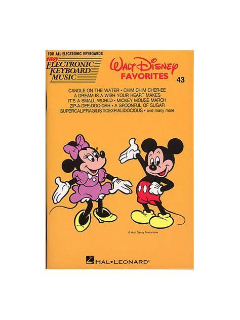 Buku Piano Walt Disney Favorites walt disney favorites easy electronic keyboard 43