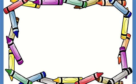 Crayon Border Frame Free Ppt Backgrounds For Your Border Templates For Powerpoint 2