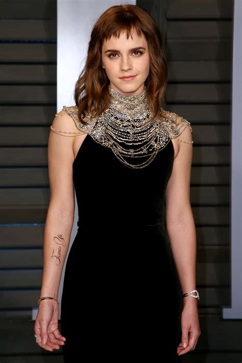 emma watson pokes fun at times up tattoo mishap inked to inspire change emma watson shows off time s up