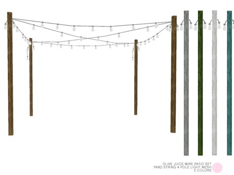 poles for string lights dot s yard string 4 pole light mesh
