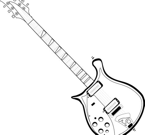 electric guitar templates electric guitar drawing template