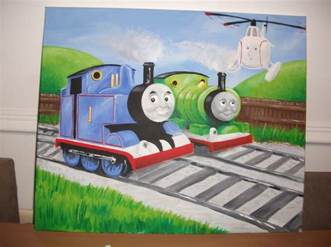 painting tank engine paintings by richard paget the tank engine percy