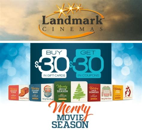 Gift Card Promotions Canada 2016 - landmark cinemas canada merry movie season deals buy a 30 gift card get free 30 in