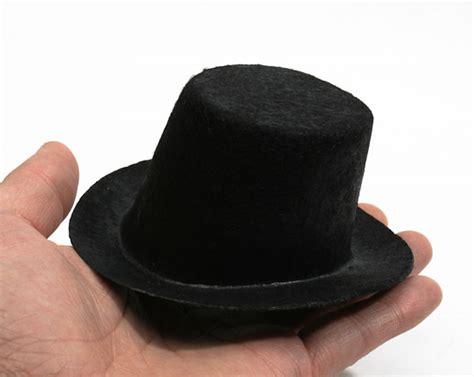 pattern for felt top hat mini black felt top hat doll hats doll making supplies