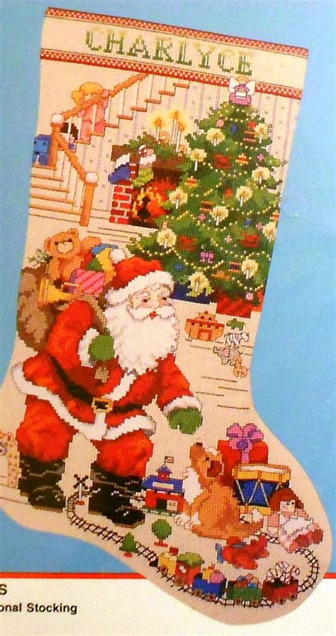 needlepoint patterns for christmas stockings bucilla the best of christmas stocking counted cross
