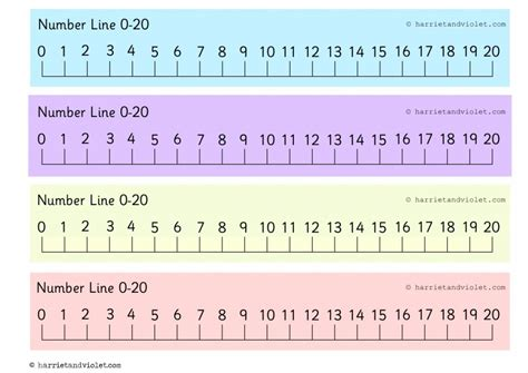 printable number line to 20 8 best images of large printable number line to 20