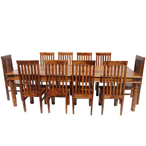 Dining Room Set For 10 Rustic Lincoln Study Large Dining Room Table Chair Set For 10