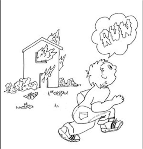 coloring page of house on fire trippin on fema