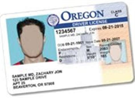 oregon id card template oregon liquor commission march 2009