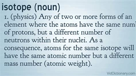 Define Protons by Isotope Definition