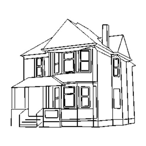 house outline clipart best