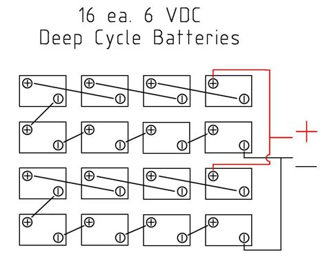 solar battery bank wiring diagrams for series 12 volt