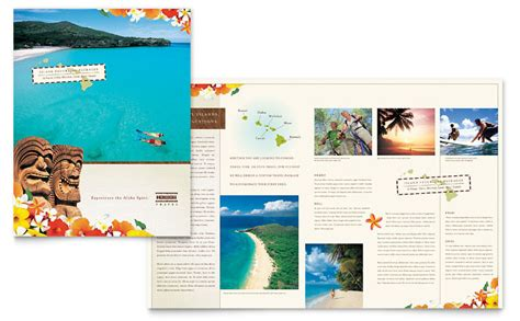 word stationery template free hawaii travel vacation brochure template word amp publisher