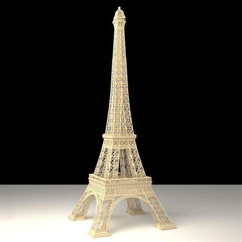 Tower 3d Model eiffel tower 3d model obj blend cgtrader